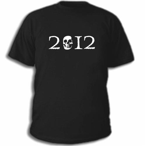 Мужская футболка 2012 с черепом