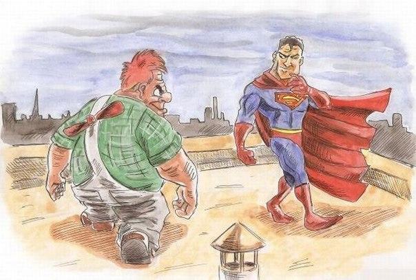 Карлсон vs Супермен