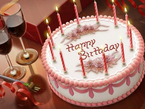 Поздравление с днем рождения, Торт