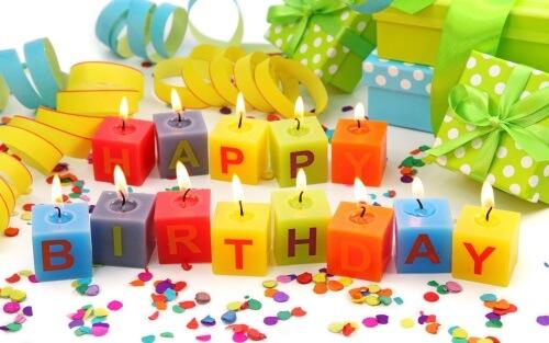 Поздравление с днем рождения, Свечи