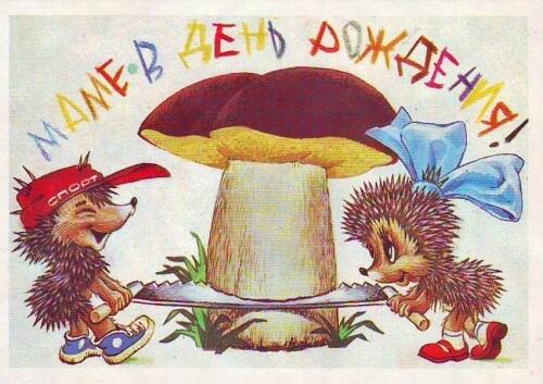 Поздравление с днем рождения, Ежи и гриб