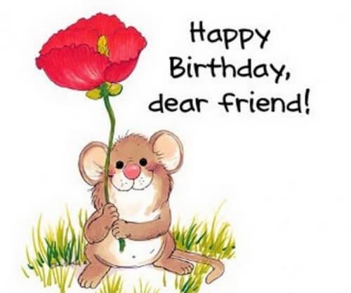 Поздравление с днем рождения, Мышонок с маком
